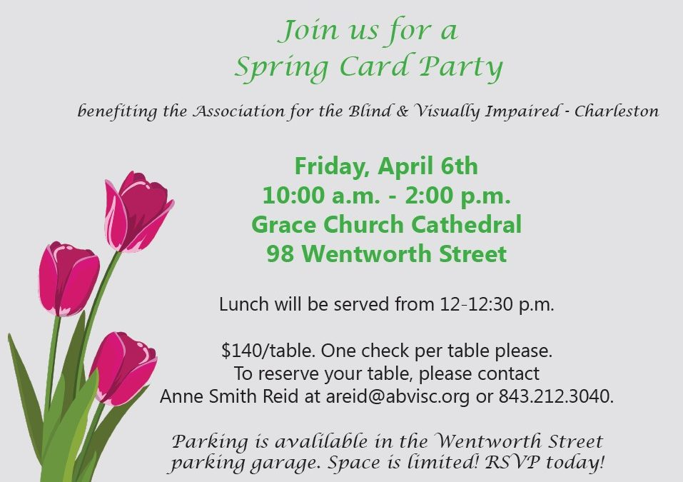 Spring Card Party Scheduled for Friday, April 6th